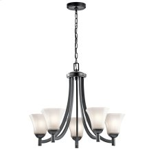 Serina Collection Serina 5 Light Chandelier in Black
