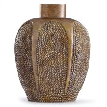 Chateau Gold  13in x 6in Traditional Hammered Resin Vase