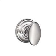 Siena Knob with Andover trim Non-turning Lock - Bright Chrome