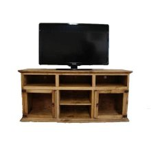 2 Glass Door TV Stand
