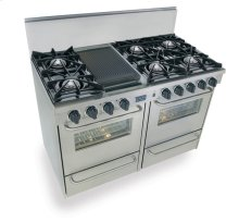 "48"" All Gas Range, Open Burners, Stainless Steel"