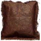 Lg Leather Pillows W/Fringe & Tooled Lthr Product Image