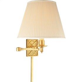 Visual Comfort AH2012NB-S Alexa Hampton Gene 20 inch 100 watt Natural Brass Swing-Arm Wall Light
