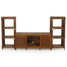 4400 Series Rattan Plasma 3 Piece Entertainment Center