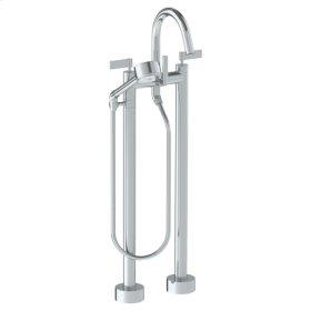 Floor Standing Gooseneck Bath Set With Volume Hand Shower