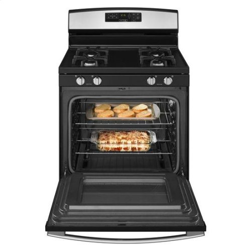 30-inch Gas Range with Self-Clean Option - white