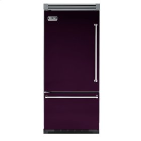 "Plum 36"" Quiet Cool™ Bottom-Mount Refrigerator/Freezer - VIBB Tru-Flush™ (Left Hinge Door)"