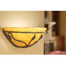 Leaf Iron Wall Sconce