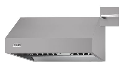 "66"" Wide 24"" Deep Wall Hood, Chrome Accessory Rail"