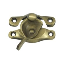 "Window Sash Lock, 1"" x 2 5/8"" - Antique Brass"