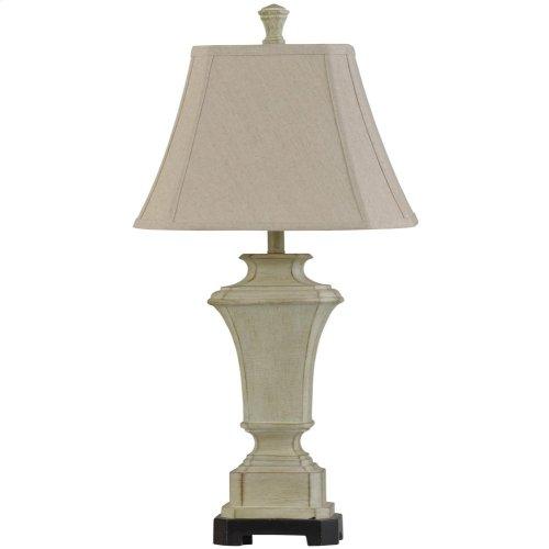 Sauga Cream Traditional Table Lamp 100W 3-Way Softback Cut-Corner Shade