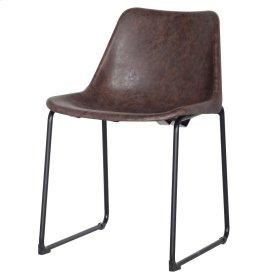 Delta PU ABS Chair, Vintage Coffee Brown