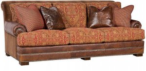 Barclay Leather/Fabric Sofa