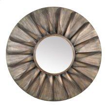 Round Iron Mirror Antique