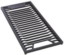 Cast iron open griddle for barbecue