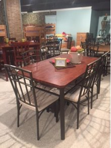 Heather 5 Pc Round Pub with Bowback Barstools