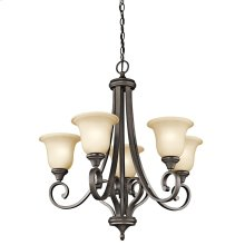 Monroe Collection Monroe 5 Light Chandelier - Olde Bronze