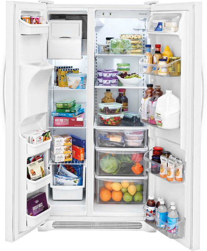 Crsh232pwcrosley Crosley Side By Side Refrigerator White
