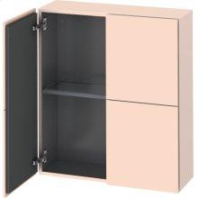 Semi-tall Cabinet, Apricot Pearl Satin Matt Lacquer