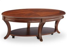 Oval Cocktail Table w/Casters