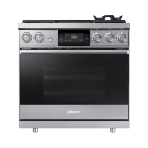 "Dacor36"" Pro Dual-Fuel Steam Range, Silver Stainless Steel, Liquid Propane"