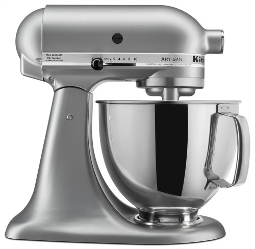 Artisan® Series 5 Quart Tilt-Head Stand Mixer - Silver Metallic