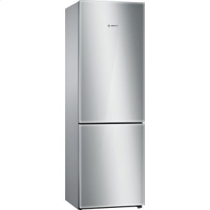 Bosch800 Series, Free-standing fridge-freezer-Glass on Stainless Steel
