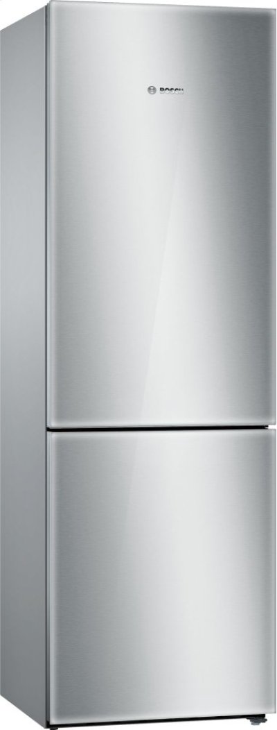 800 Series, Free-standing fridge-freezer-Glass on Stainless Steel Product Image