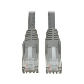 Cat6 Gigabit Snagless Molded Patch Cable (RJ45 M/M) - Gray, 1-ft.