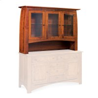 "Aspen Open Hutch Top, 64 1/2"", Antique Glass Product Image"