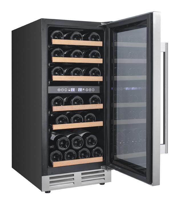 Avanti28 Bottle Designer Series Dual Zone Wine Chiller W/seamless Door