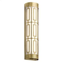 """Empire 20"""" LED Linear Wall Sconce Natural Brass"""