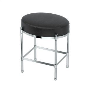 Oval Vanity Stool in Chrome Product Image