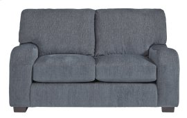 Loveseat - Grayish Blue Chenille Finish