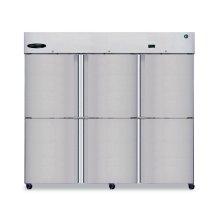 Refrigerator, Three Section Upright, Half Stainless Door