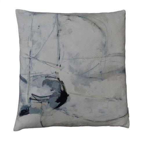 Trajectory Velvet Feather Cushion 25x25