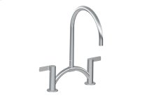 Terra Contemporary Bridge Kitchen Faucet