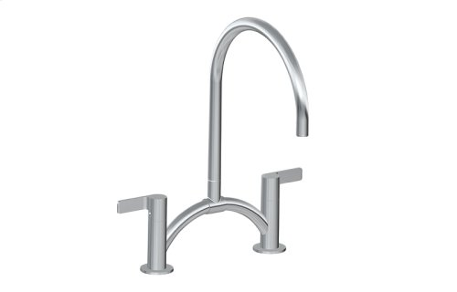 Terra Contemporary Bridge Kitchen Faucet