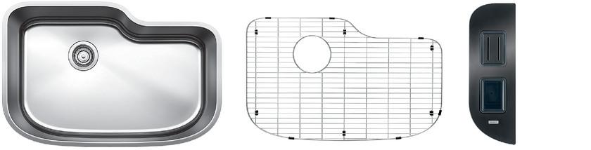 Blanco One XL Single Bowl Kit 2 - Safety - Satin Polished Finish