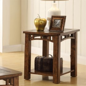 Preston - Side Table - Sedona Burnished Oak Finish