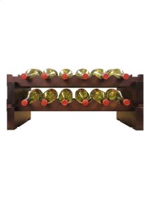 2 x 6 Bottle Modular Wine Rack (Stained)