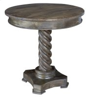 Bengal Manor Mango Wood Carved Rope Twist Accent Table Product Image