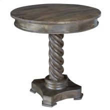 Bengal Manor Mango Wood Carved Rope Twist Accent Table