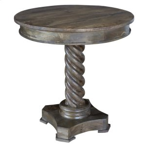 CRESTVIEW COLLECTIONSBengal Manor Mango Wood Carved Rope Twist Accent Table