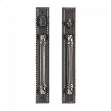 "Corbel Rectangular Entry Sliding Door Set - 2"" x 14"" Silicon Bronze Brushed"