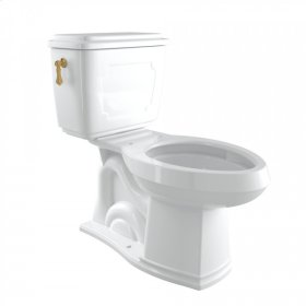 English Gold Perrin & Rowe Victorian 1.6 GPF Elongated Close Coupled Water Closet/Toilet