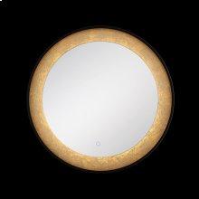 ROUND EDGE-LIT LED MIRROR - Black