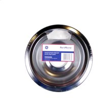"6"" Chrome Drip Pan & Trim Ring 2-Pack"