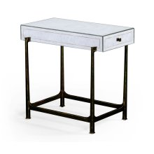 glomise & Bronze Iron Box Top Side Table