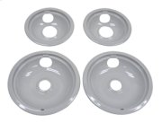 "Grey Drip Bowl Set, 2-6"", 2-8"" Product Image"